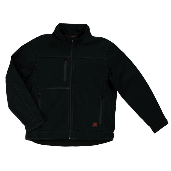 Tough Duck Bonded Duck Black Soft Shell Jacket WJ09 Front