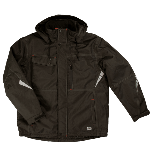 Tough Duck Waterproof Black Poly Oxford Jacket WJ13 Front