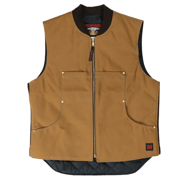 Tough Duck Premium Cotton Duck Quilted Lined Vest 1937 Brown
