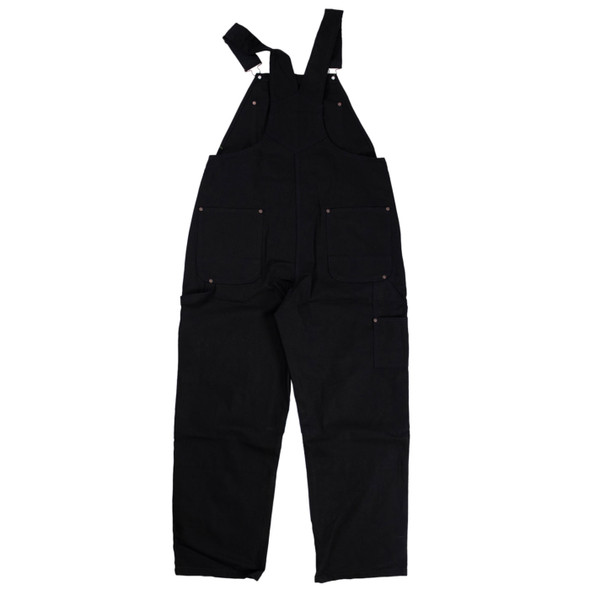Tough Duck Premium Cotton Duck Unlined Bib Overall i198 Black Back