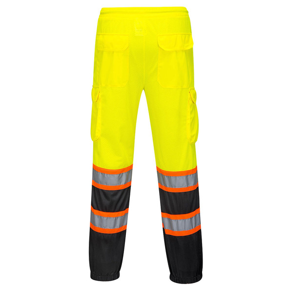 PortWest Class E His Yellow Black Bottom Mesh Overpants US388 Back