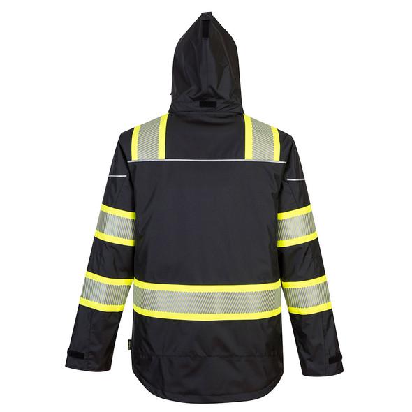 PortWest Enhanced Visibility Black Iona Winter Jacket F144 Back