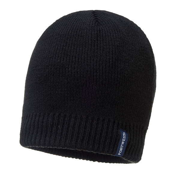 PortWest Waterproof Black Beanie B031