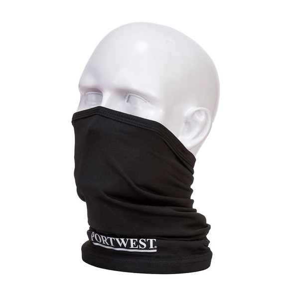 PortWest Cooling Multiway Face Covering Black Scarf CS24