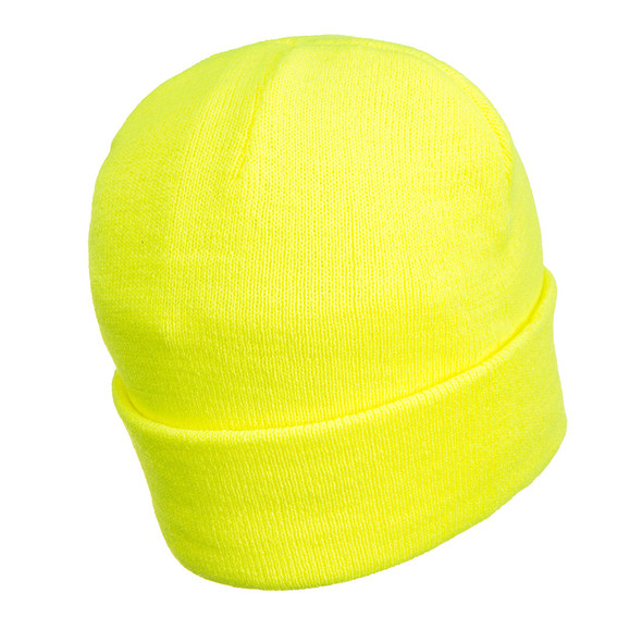 PortWest Non-ANSI Hi Vis LED Head Light Beanie Yellow Back