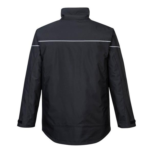PortWest Black Winter Jacket PW362 Back
