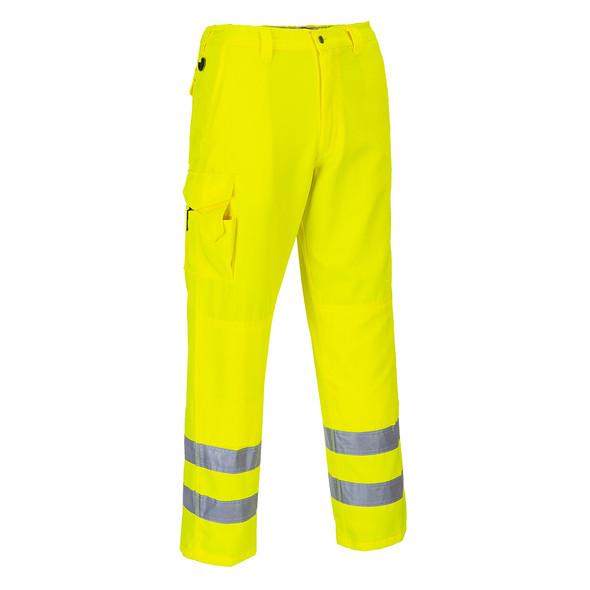 PortWest Class E Hi Vis Yellow Cargo Pants E046