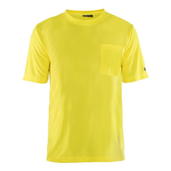 Blaklader Non-ANSI Hi Vis Yellow Crew Neck T-Shirt 348710113300