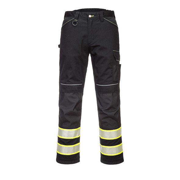PortWest Enhanced Visibility Black Iona Work Pants F142 Front