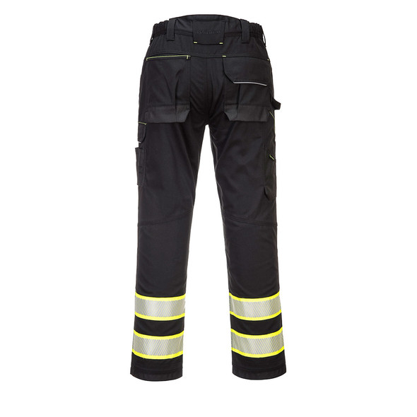 PortWest Enhanced Visibility Black Iona Work Pants F142 Back
