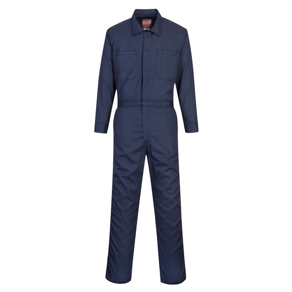 PortWest FR Bizflame Classic Navy Unlined Coverall UFR87 Front