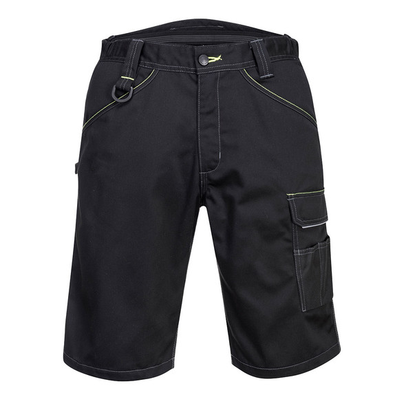 PortWest Cargo Work Shorts PW349 Black Front