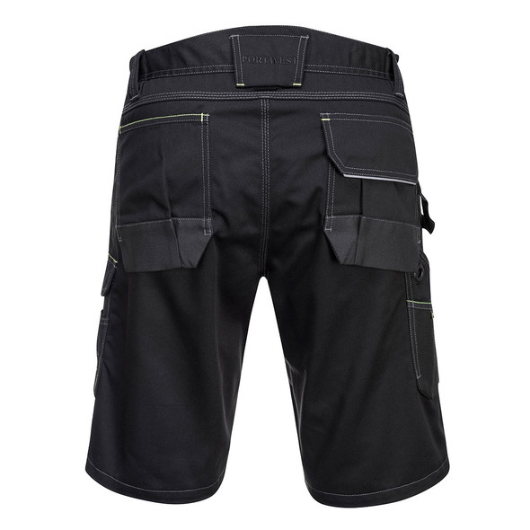PortWest Cargo Work Shorts PW349 Black Back