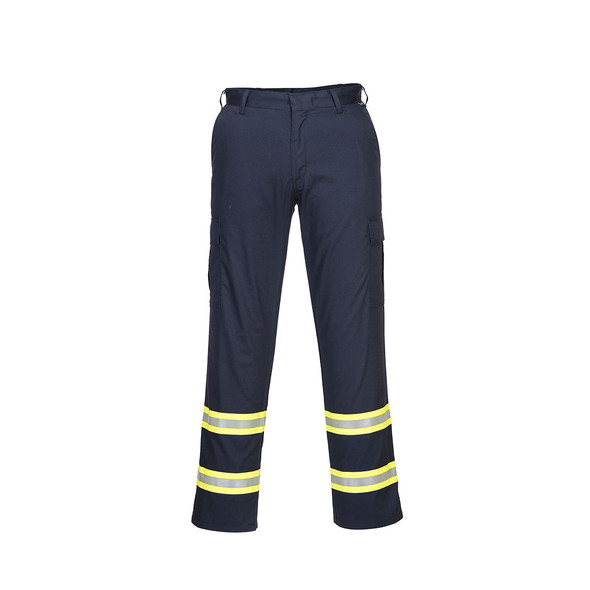 PortWest Enhanced Visibility Navy Iona Work Pants F127 Front