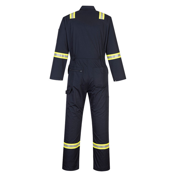 PortWest Enhanced Visibility Navy Iona Unlined Coverall F128 Back