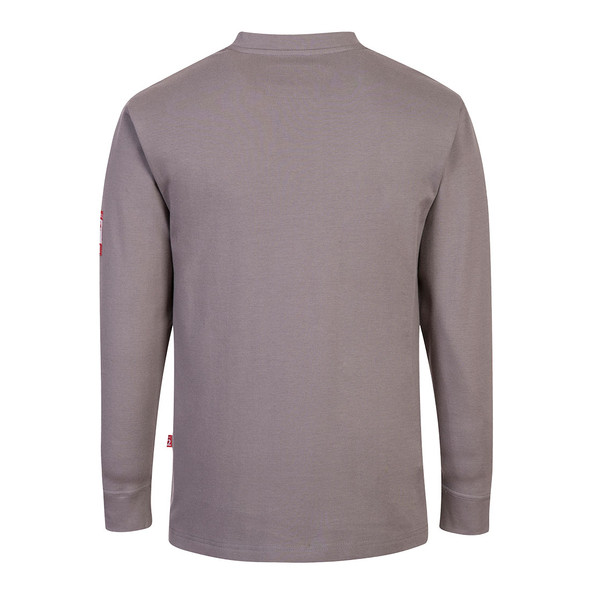 PortWest FR Anti-Static Henley FR32 Grey Back