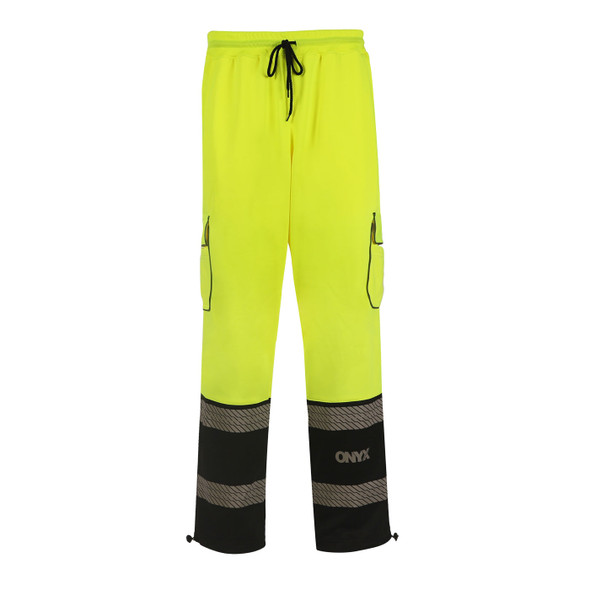 GSS Class E Hi Vis Lime Onyx Sweat Pants 8715 Front