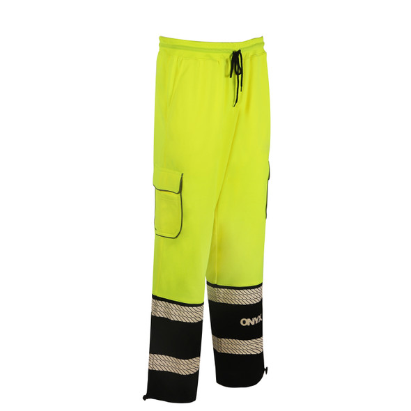 GSS Class E Hi Vis Lime Onyx Sweat Pants 8715 Right Side
