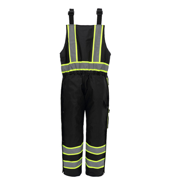 GSS Non-ANSI Enhanced Visibility Black Insulated Winter Bib 8703