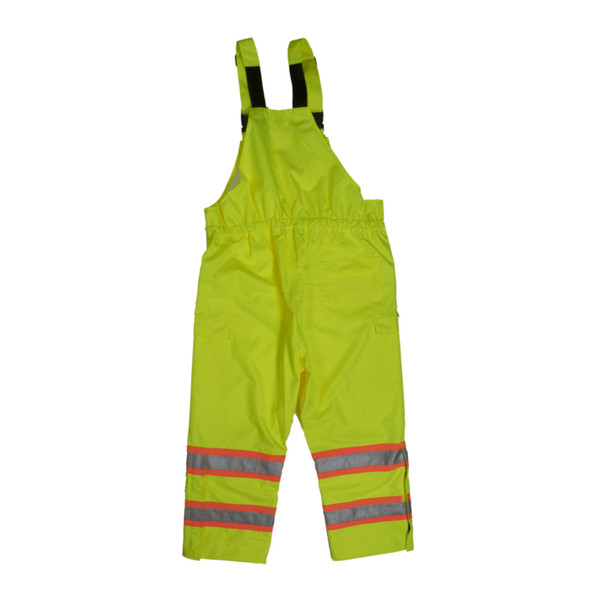 Tough Duck Class E Hi Vis Rain Bib Overall SB04 Green Back