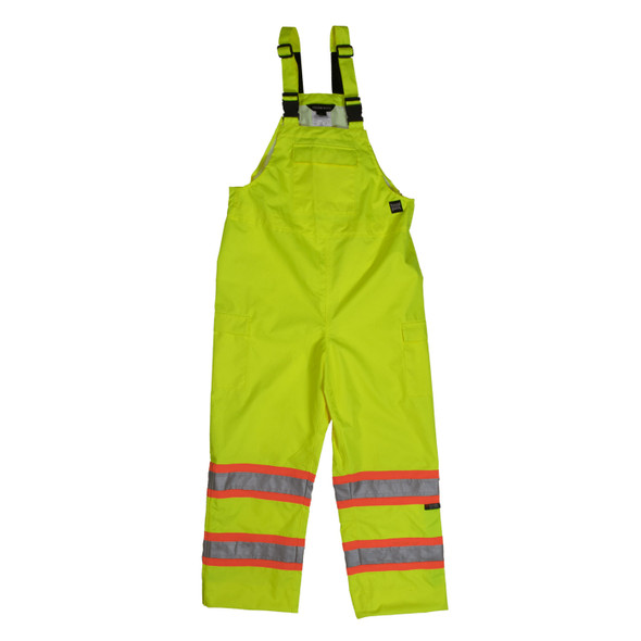 Tough Duck Class E Hi Vis Rain Bib Overall SB04 Green Front