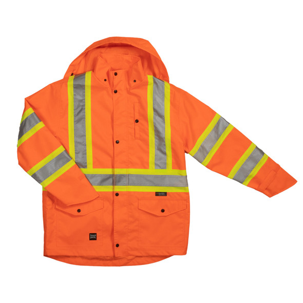 Tough Duck Class 3 Hi Vis Ripstop Rain Jacket SJ35 Front