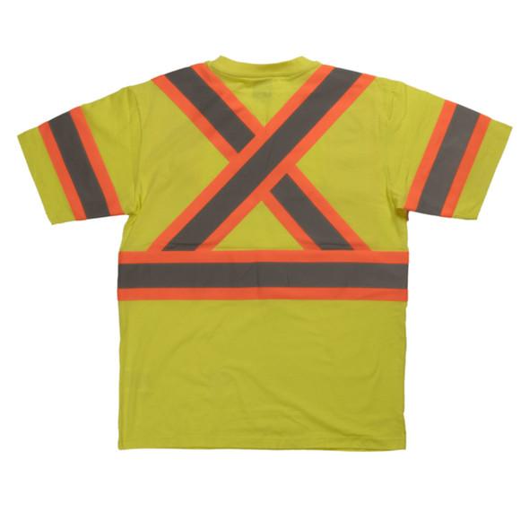 Tough Duck Class 2 Hi Vis X-Back T-Shirt ST11 Green Back