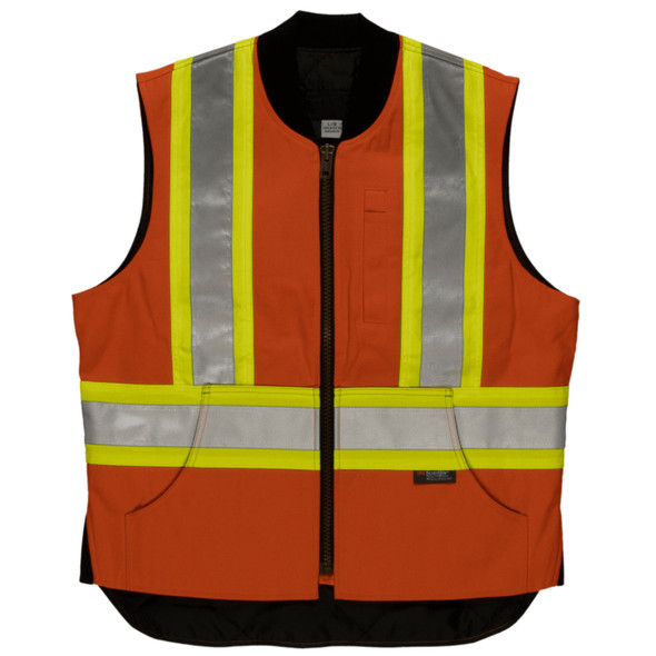 Tough Duck Class 1 Enhanced Visibility X-Back Orange Duck Safety Vest SV06 Front