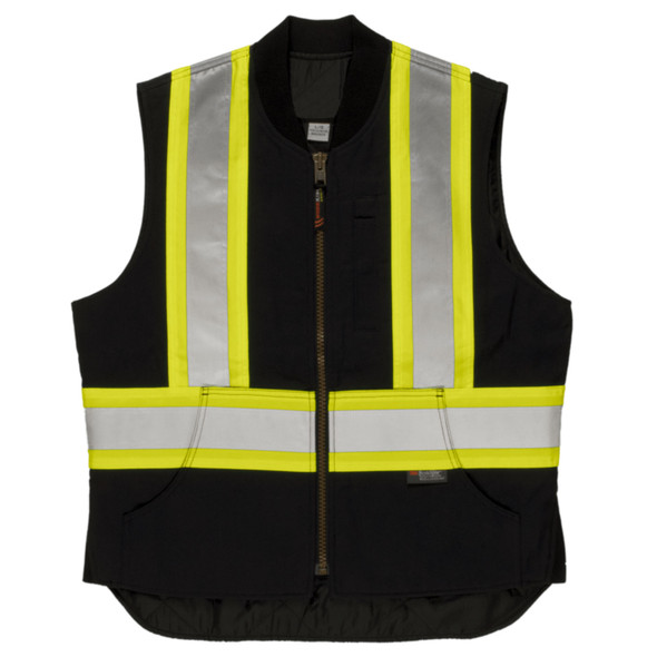 Tough Duck Class 1 Enhanced Visibility X-Back Black Duck Safety Vest SV06BLK Back