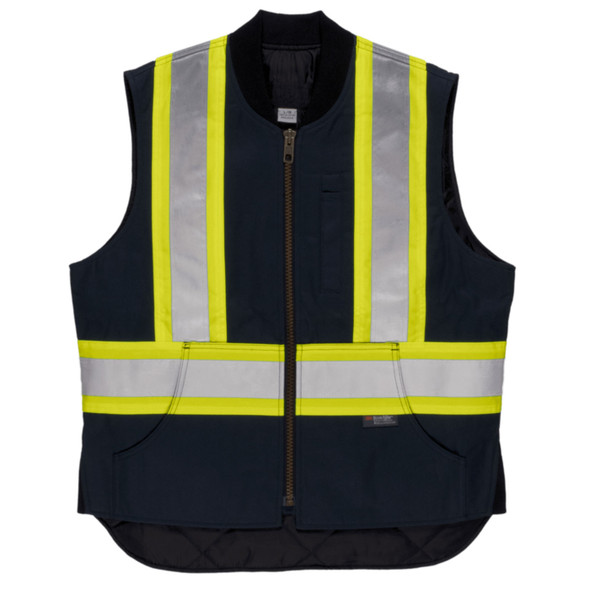 Tough Duck Class 1 Enhanced Visibility X-Back Navy Duck Safety Vest SV06NVY Front