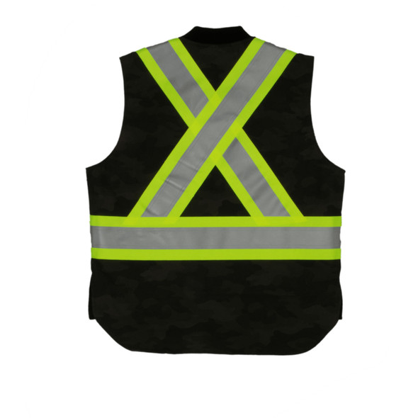 Tough Duck Class 1 Enhanced Visibility Green Camo Flex Duck Safety Vest SV08 Back