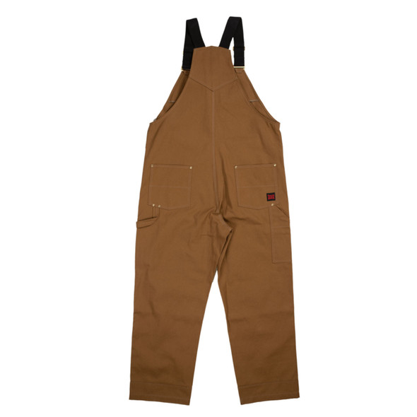 Tough Duck Brown Deluxe Unlined Bib Overall WB04 Back