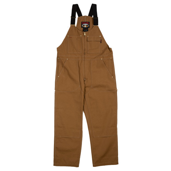 Tough Duck Brown Deluxe Unlined Bib Overall WB04 Front