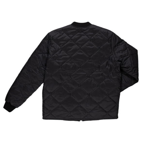 Tough Duck Black Freezer Jacket with Quilted Insulated Lining WJ16 Back