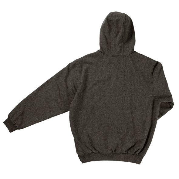 Tough Duck Water Repellent Pullover Hoodie WJ22 Charcoal Back