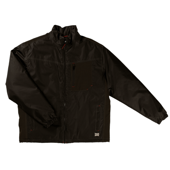 Tough Duck Black Insulated Poly Oxford Jacket WJ24 Front