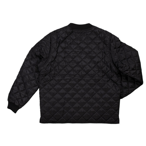 Tough Duck Quilted Insulated Black Freezer Jacket WJ25 Back