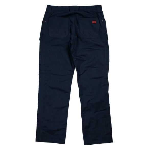 Tough Duck Navy Fleeced Lined Flex Twill Cargo Pants WP06 Back
