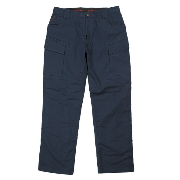 Tough Duck Navy Fleeced Lined Flex Twill Cargo Pants WP06 Front