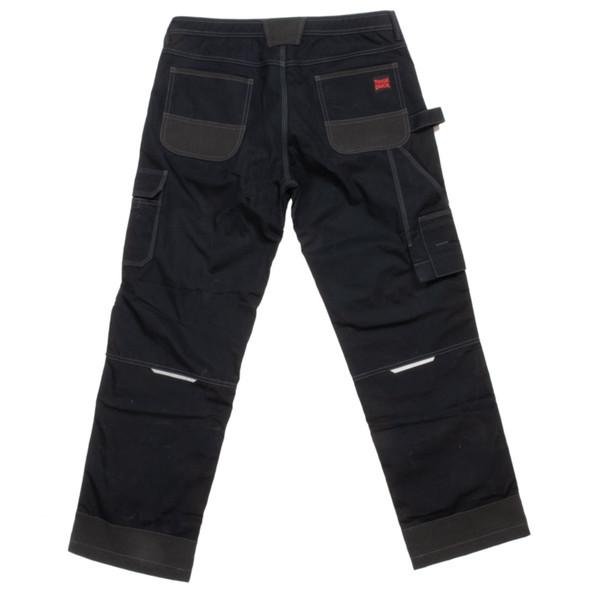Tough Duck Black Flex Ripstop Contractor Pants WP07 Back