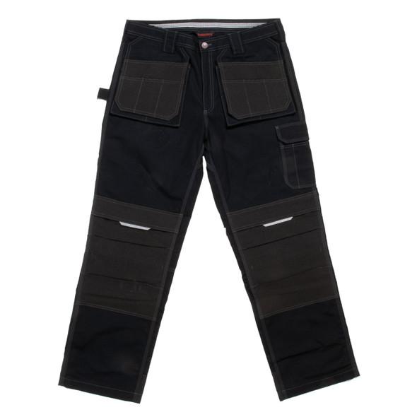 Tough Duck Black Flex Ripstop Contractor Pants WP07 Front