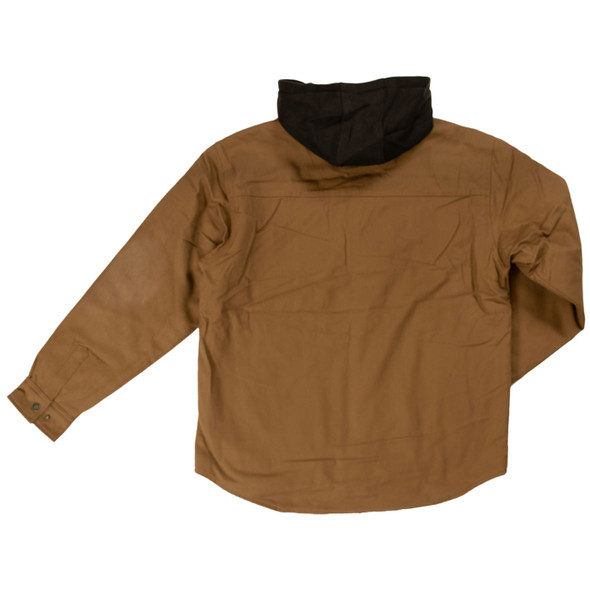 Tough Duck Sherpa Lined Duck Jac-Shirt WS03 Back Brown