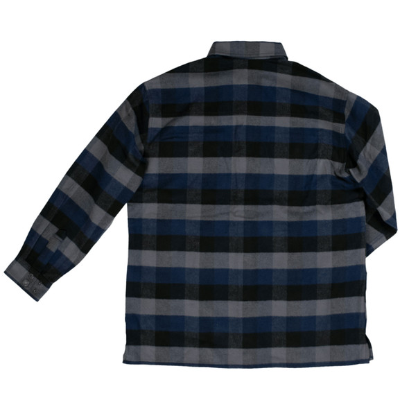 Tough Duck Heavy Duty Flannel Overshirt WS04 Navy Plaid Back