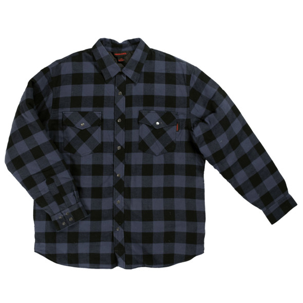 Tough Duck Quilt Lined Insulated Flannel Shirt WS05 Buffalo Blue Check Front