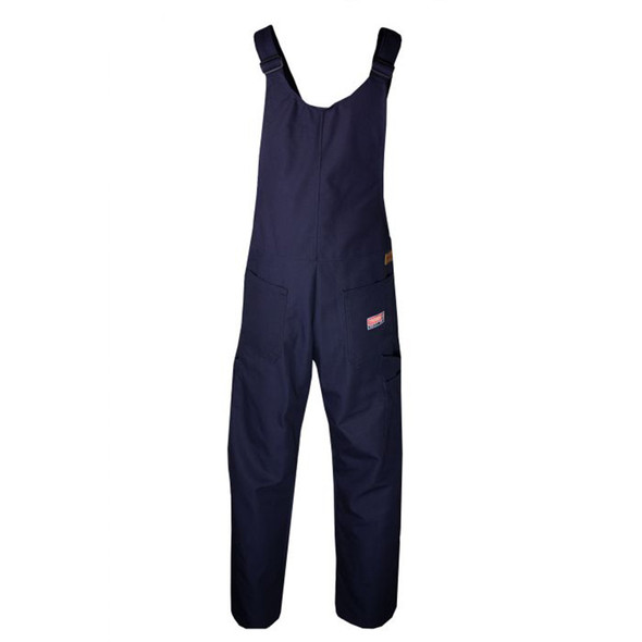 TECGEN FR Unlined Made in USA Bib Overall BIB6 Navy Back