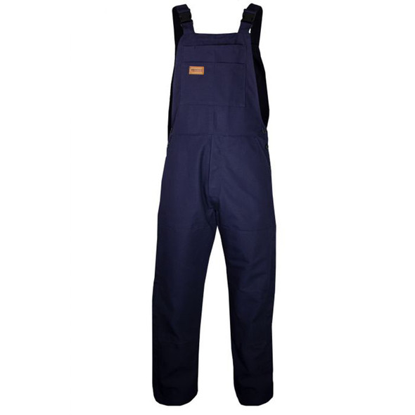 TECGEN FR Unlined Made in USA Bib Overall BIB6 Navy Front