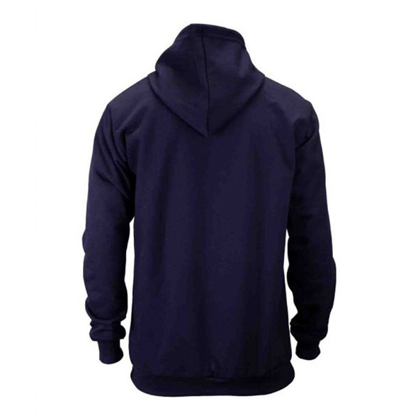 Union Line FR Navy Ultrasoft Fleece Made in USA Hooded Sweatshirt 10250-01 Back