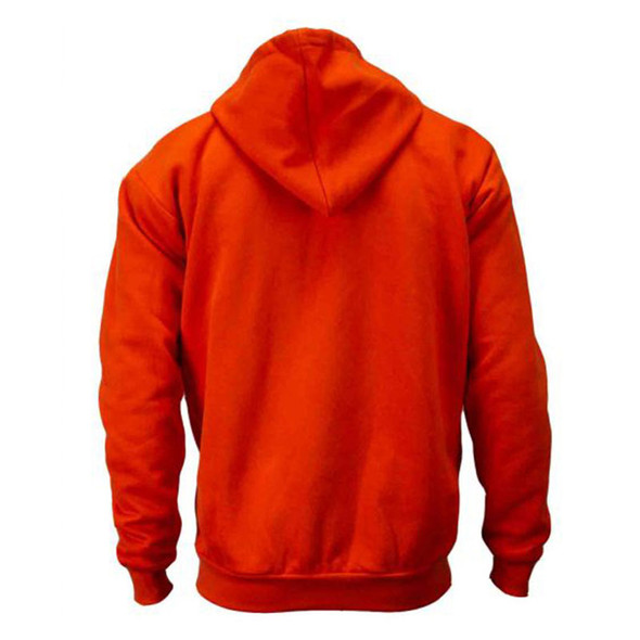 Union Line Non-ANSI Hi Vis Orange Ultrasoft Fleece Made in USA Hooded Sweatshirt 10250-65 Back