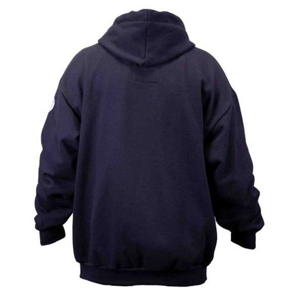 Union Line FR Navy Fleece Hooded Zip Up Sweatshirt 10119-01 Back