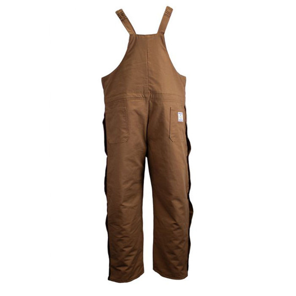 Union Line FR Brown Ultrasoft Duck Made in USA Bib Overall with Quilted Liner 15079-67 Back